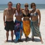 On the beach with the Finns