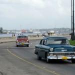 Cars on the Malecón, Havana